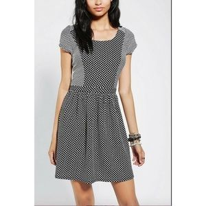 Urban Outfitters black & white polka dot dress